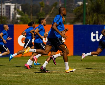 The men's national team of Curacao United, at training in Guatemala.